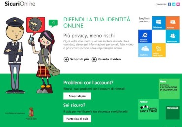 SicuriOnline by Microsoft and the State Police with an application for Windows 8